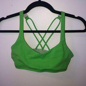 Lululemon Sports Bra Bright Green Size 2